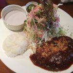 洋食家 KITCHEN PIGLETの紫蘇・ポテト・玉子の豚バラ肉巻き揚げ味噌ソース仕立てランチ @東片端