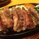ステーキ宮 北名古屋店の温野菜とカルビステーキ @師勝