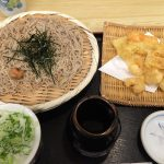 サクサク天ぷらと極細蕎麦!「かど徳」の魚・小エビ・穴子の天ぷらとざるそばのセット @清洲