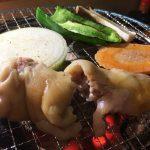 さらえ亭の豚足と焼き野菜 @下小田井