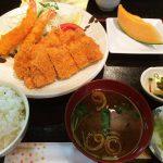 串よしのチキン・エビフライ定食 @浄心