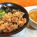 麺水名古屋北店の肉そば大盛り3辛 @楠