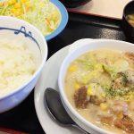 松屋亀島店の鶏と白菜のクリームシチュー定食 @中村区亀島