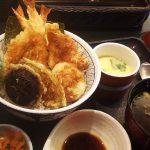 和食さと上更通店のにぎわい海老天丼セットとお子様ランチ @上更通