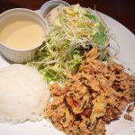 洋食家 KITCHEN PIGLETの里芋のフリット キャベツとミンチの旨醤油タルタルランチ @東片端