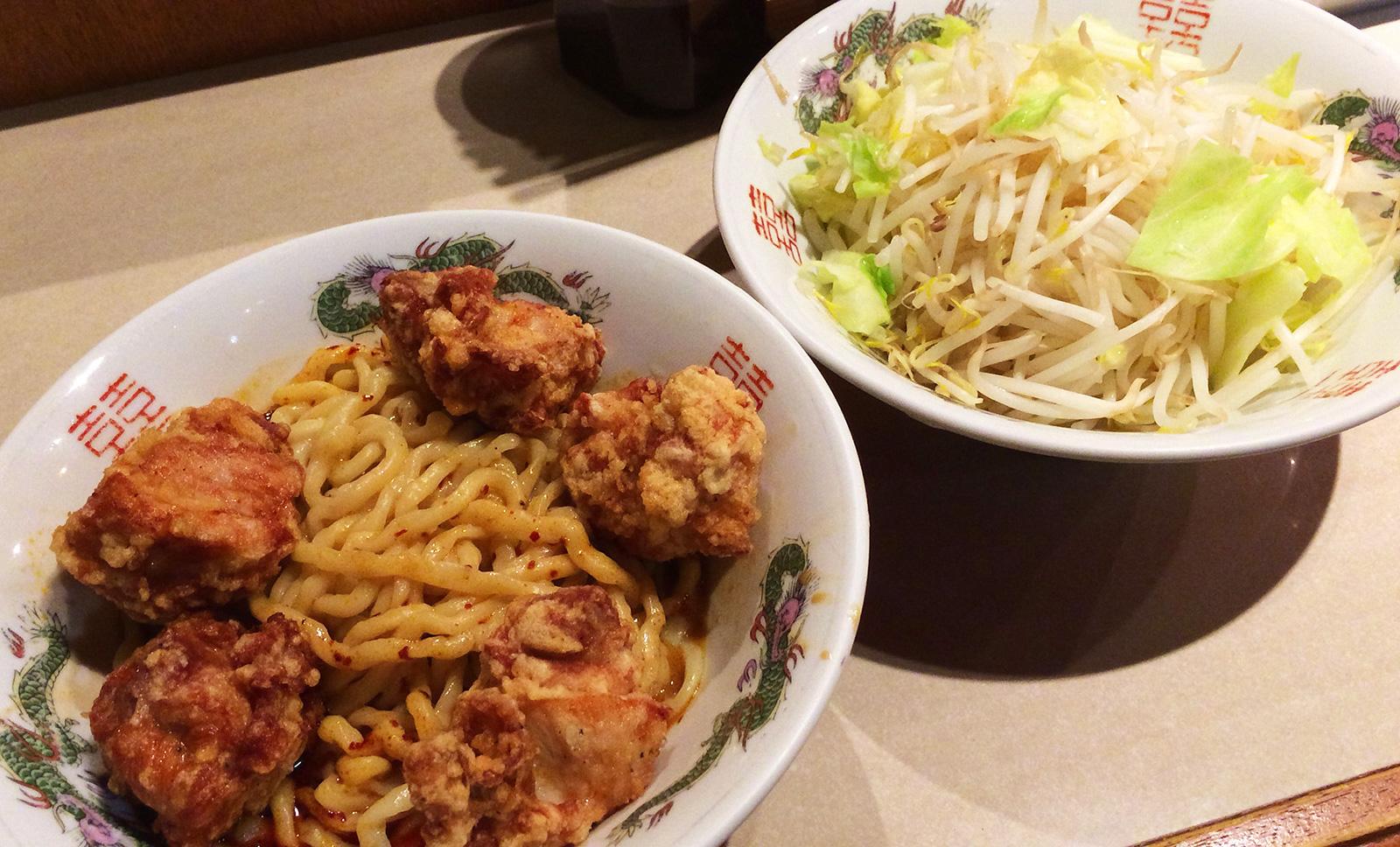 デブソバ リパブリックのハイパー汁なしタンタン麺とり唐ボンバー @豊山町