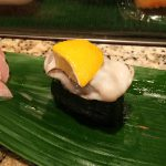 「すし・うなぎ 松前」の名残の牡蠣と初鰹 @西区栄生