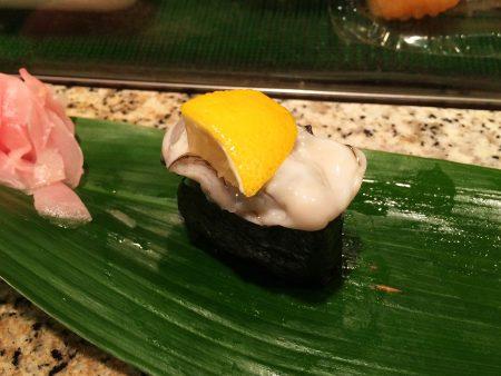 「すし・うなぎ 松前」の名残の牡蠣と初鰹 @栄生
