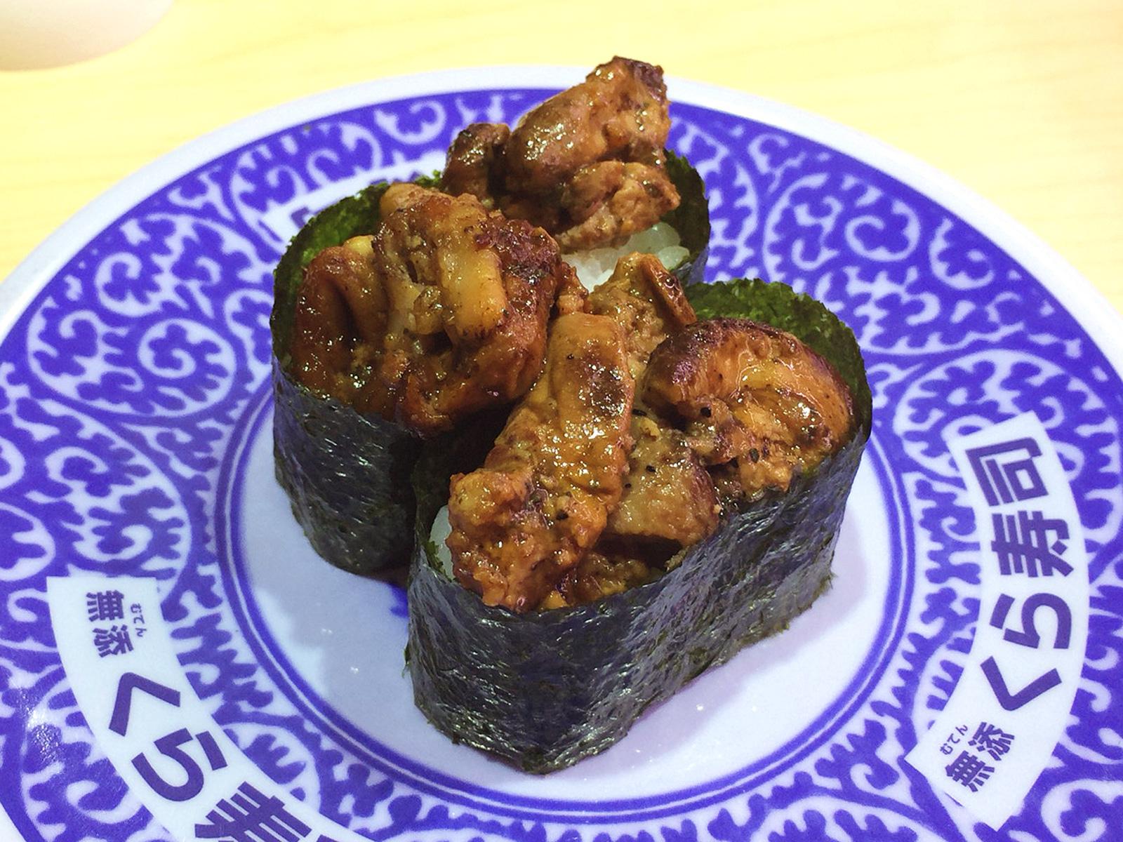無添くら寿司甚目寺店のシャリカレーパンとお寿司 @甚目寺