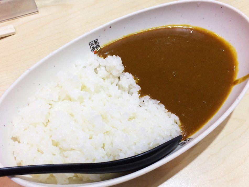 「無添くら寿司 甚目寺店」のシャリカレーとお寿司 @甚目寺