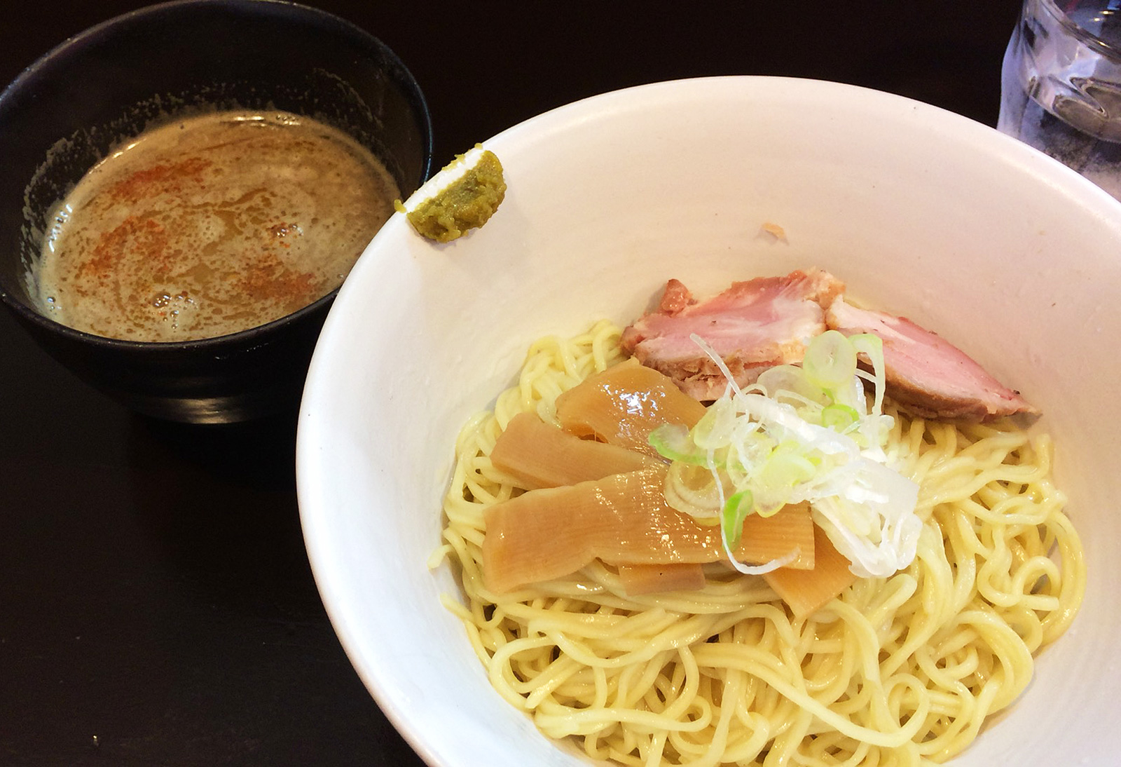 「らーめん奏」のつけ麺 @吹上