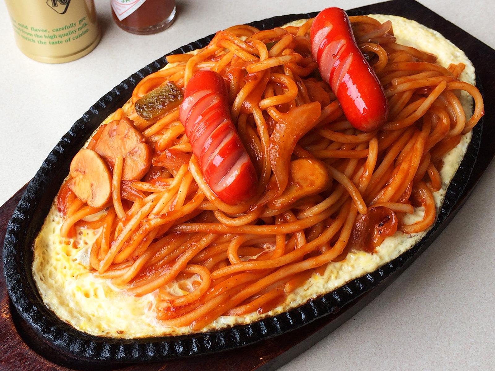 「しらかば」の鉄板イタリアンスパゲティ @下小田井