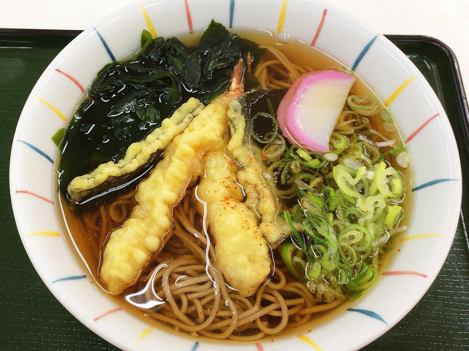 「むつみや」の天ぷらそば @清須市下小田井