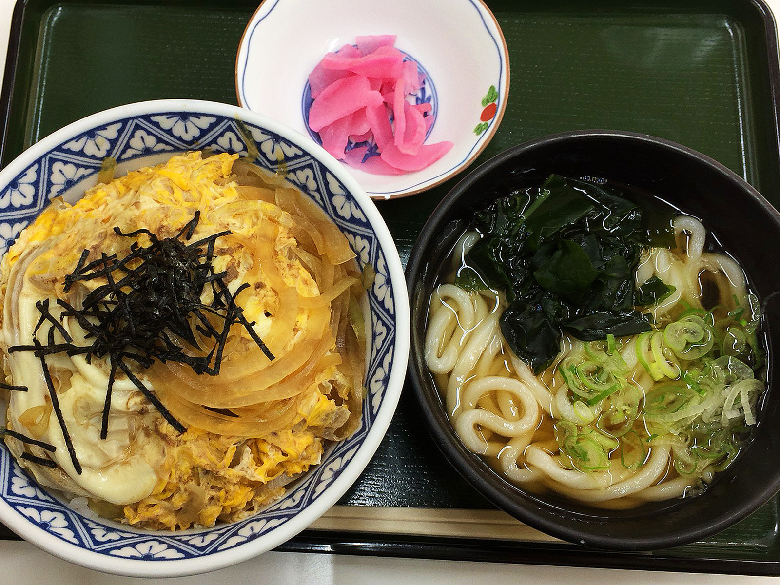 「むつみや」のたまご丼セット @清須市下小田井