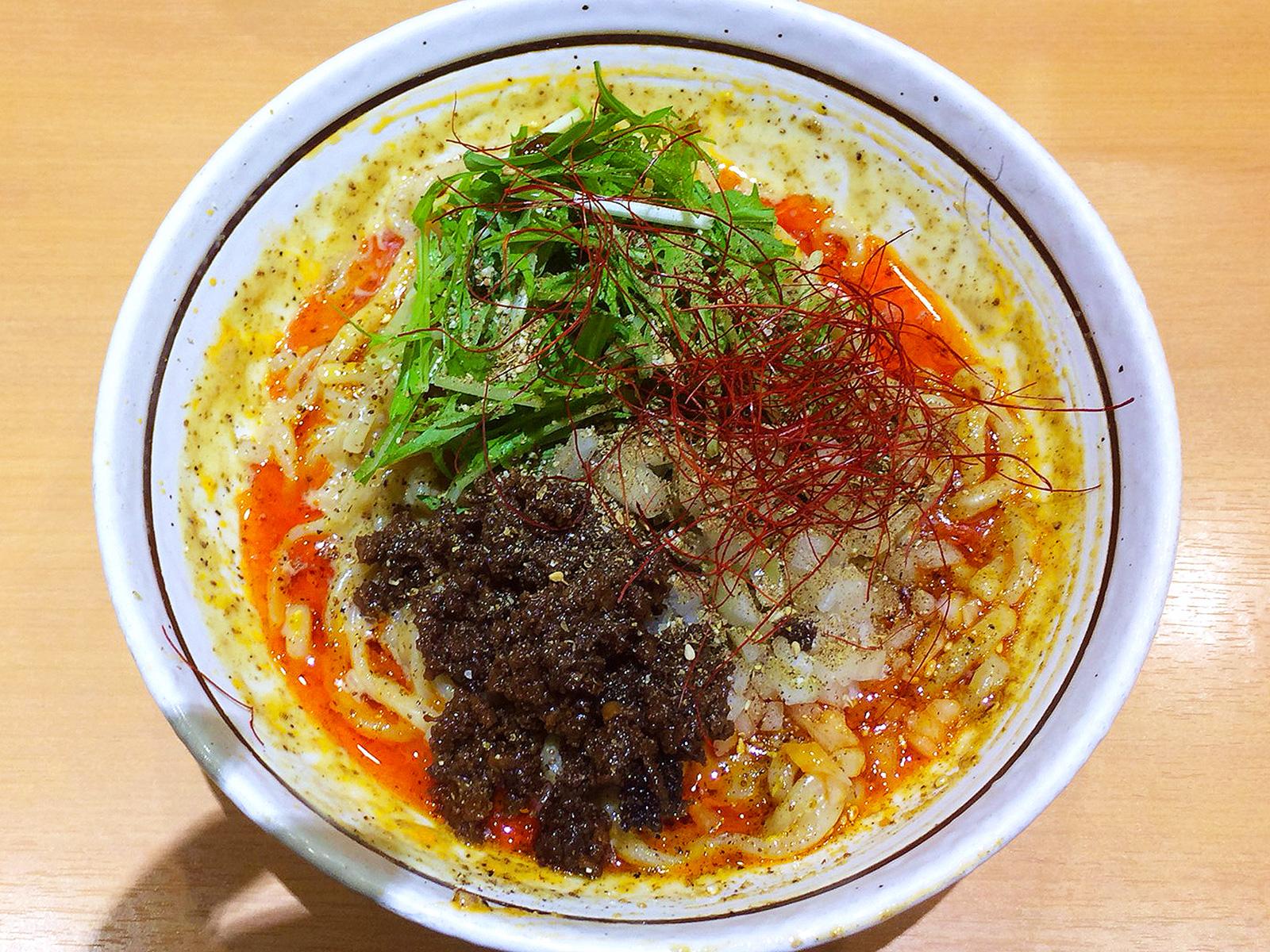 「濃厚担々麺はなび錦店」の麻辣坦々まぜそば @錦3