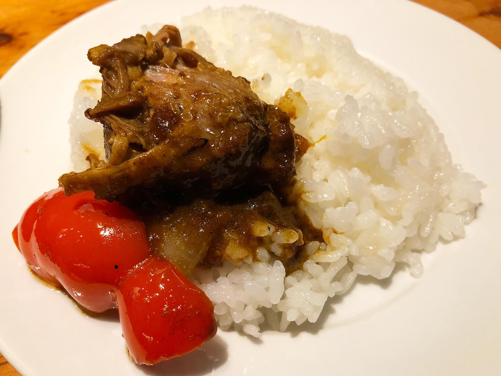 「野菜を食べるカレーCamp」のBBQカレー彩り野菜増し @名駅