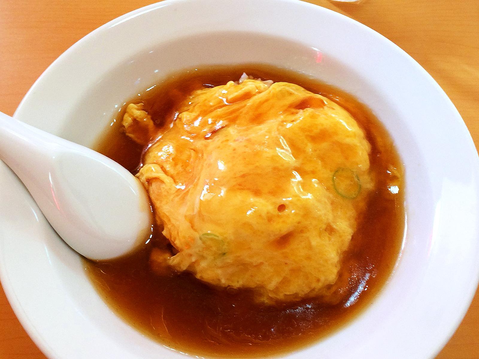 「味鮮館」の台湾ラーメンと天津飯セット @下小田井