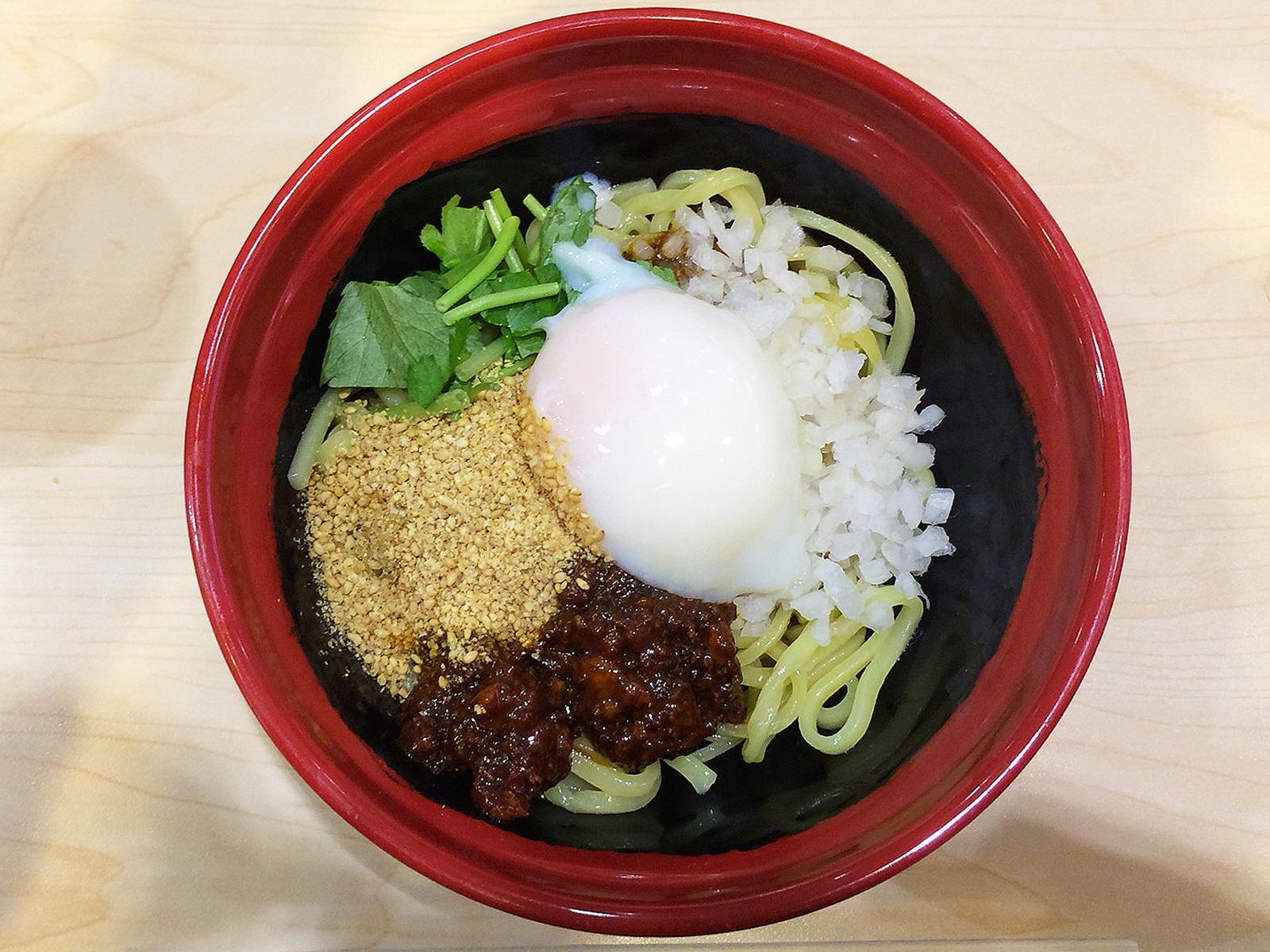 「無添くら寿司 甚目寺店」の胡麻香る汁なし担々麺とかに爪入り茶碗蒸しリゾット @甚目寺