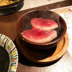 「福まんま」の鴨肉の石焼き @中区錦3