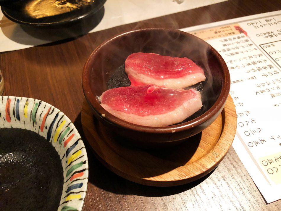 「福まんま」の鴨肉の石焼き @錦3
