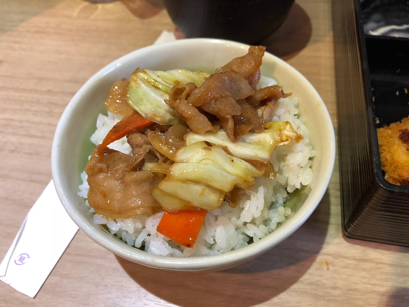 「創作厨房ぐろう」の豚焼肉とイカフライランチ @平田