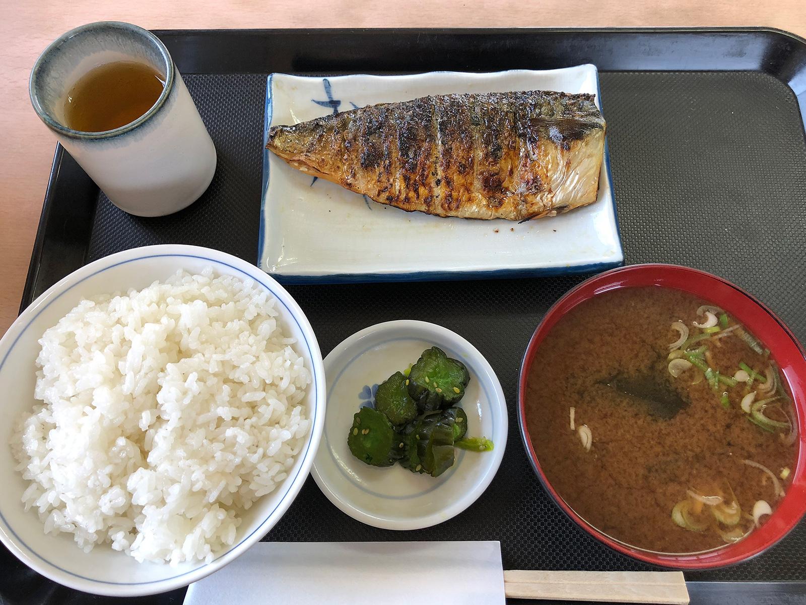 「一ぷく食堂」の焼きさば定食ランチ @枇杷島