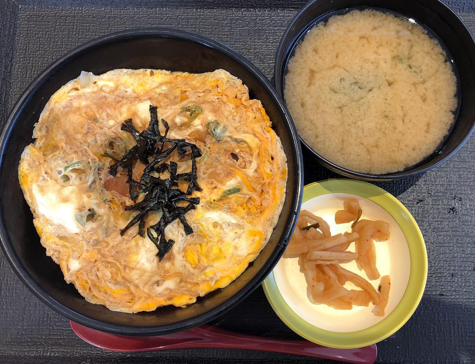 「松のや清須店」の玉子丼 @西枇杷島