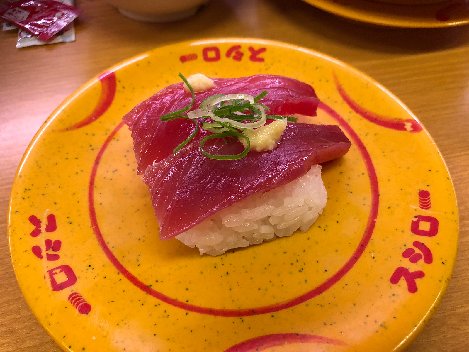 「スシロー清須古城店」のレモンサワーと南瓜の天ぷらとお寿司いろいろ @西枇杷島
