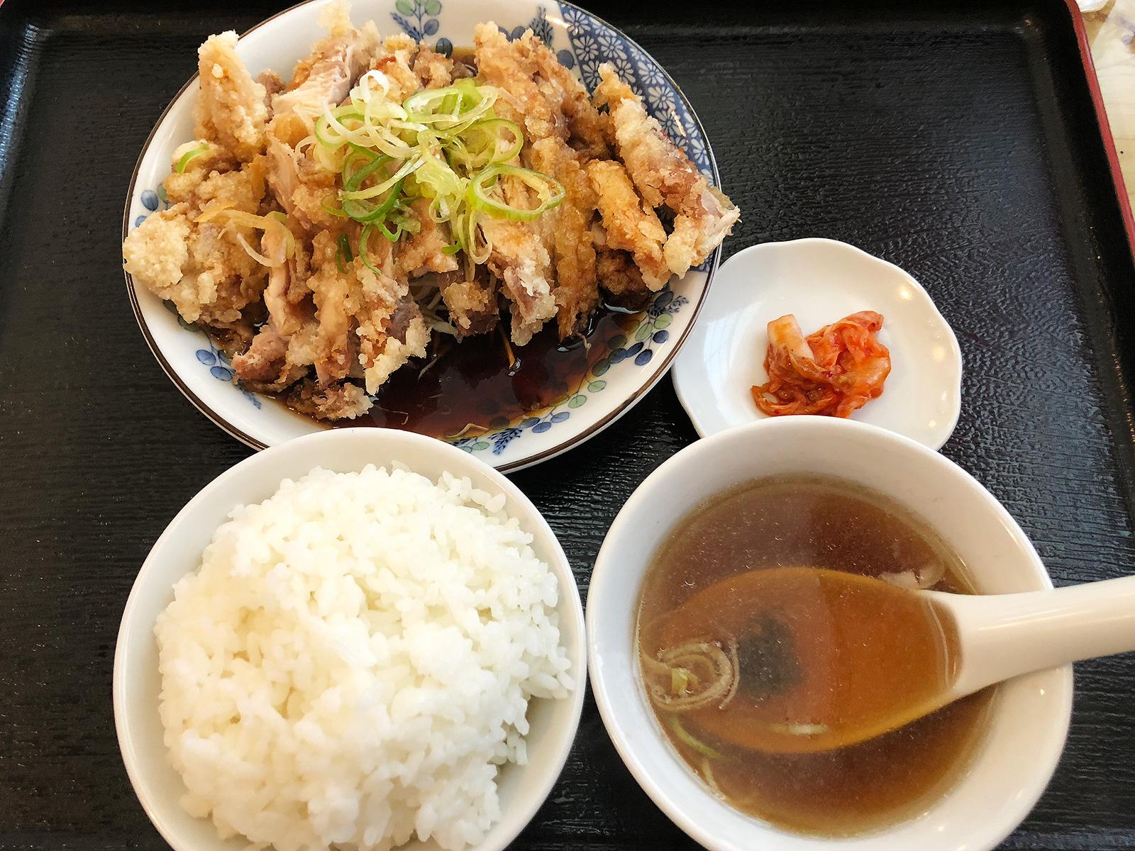 「台湾料理 大安」の油淋鶏定食ランチ @下小田井