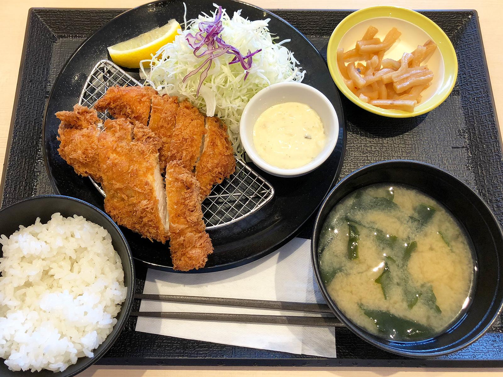 「松のや清須店」のささみかつ定食 @西枇杷島