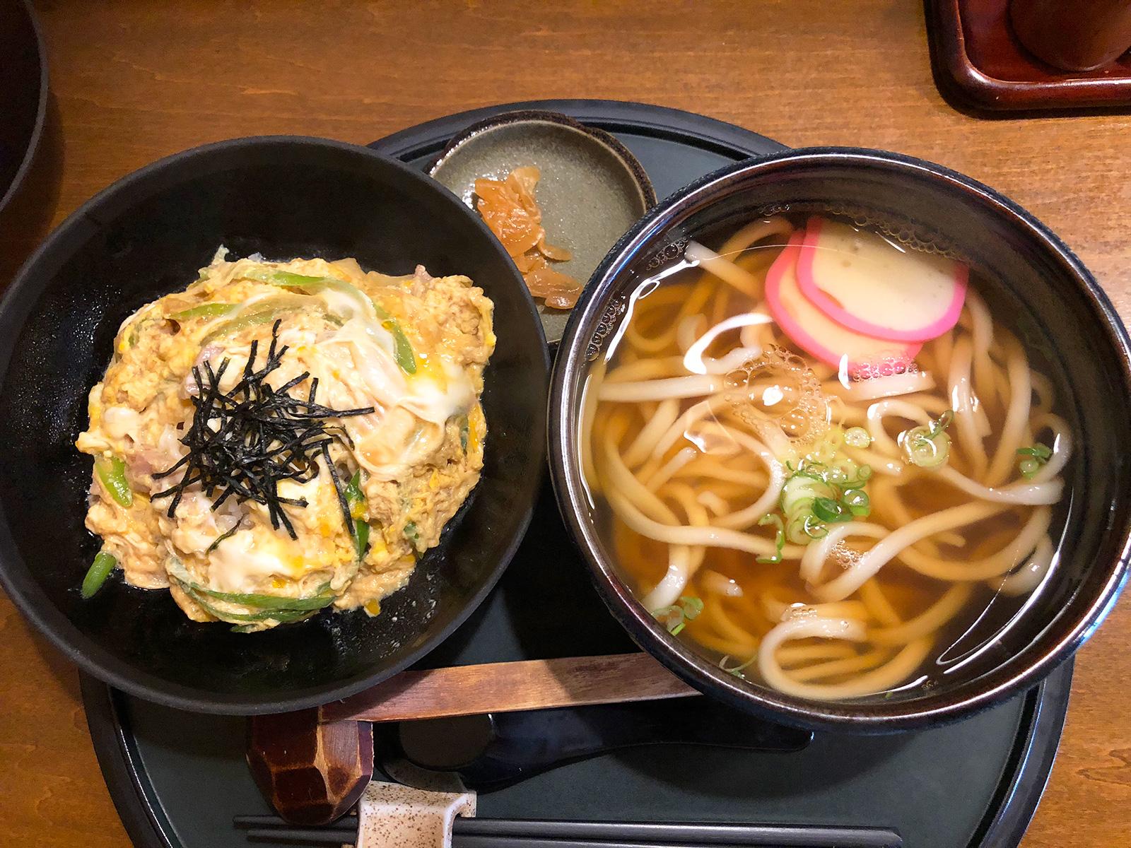 「和家」の親子丼セット @上小田井