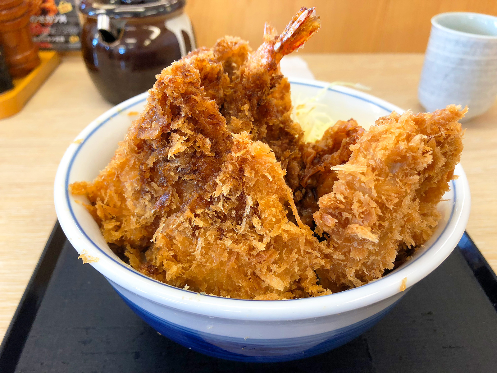 「かつや 名岐バイパス春日店」の全部のせカツ丼 @春日