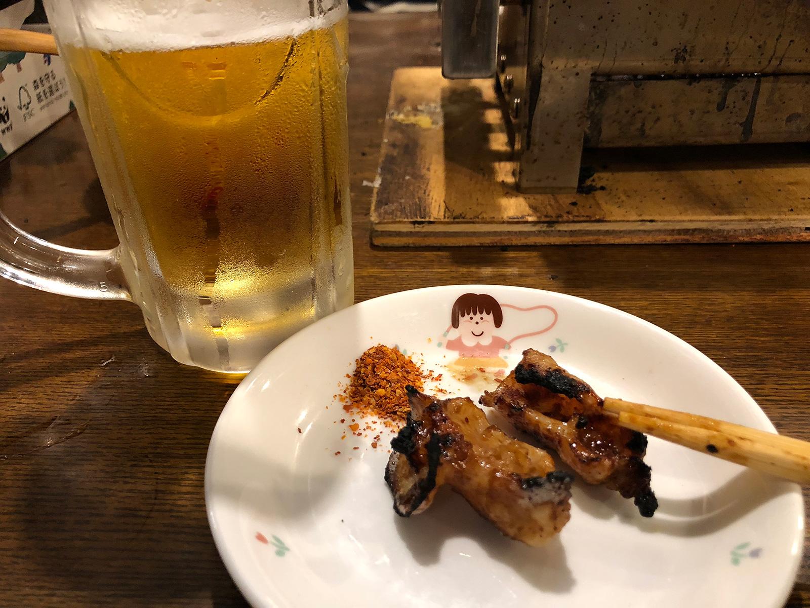 ビールととんちゃん