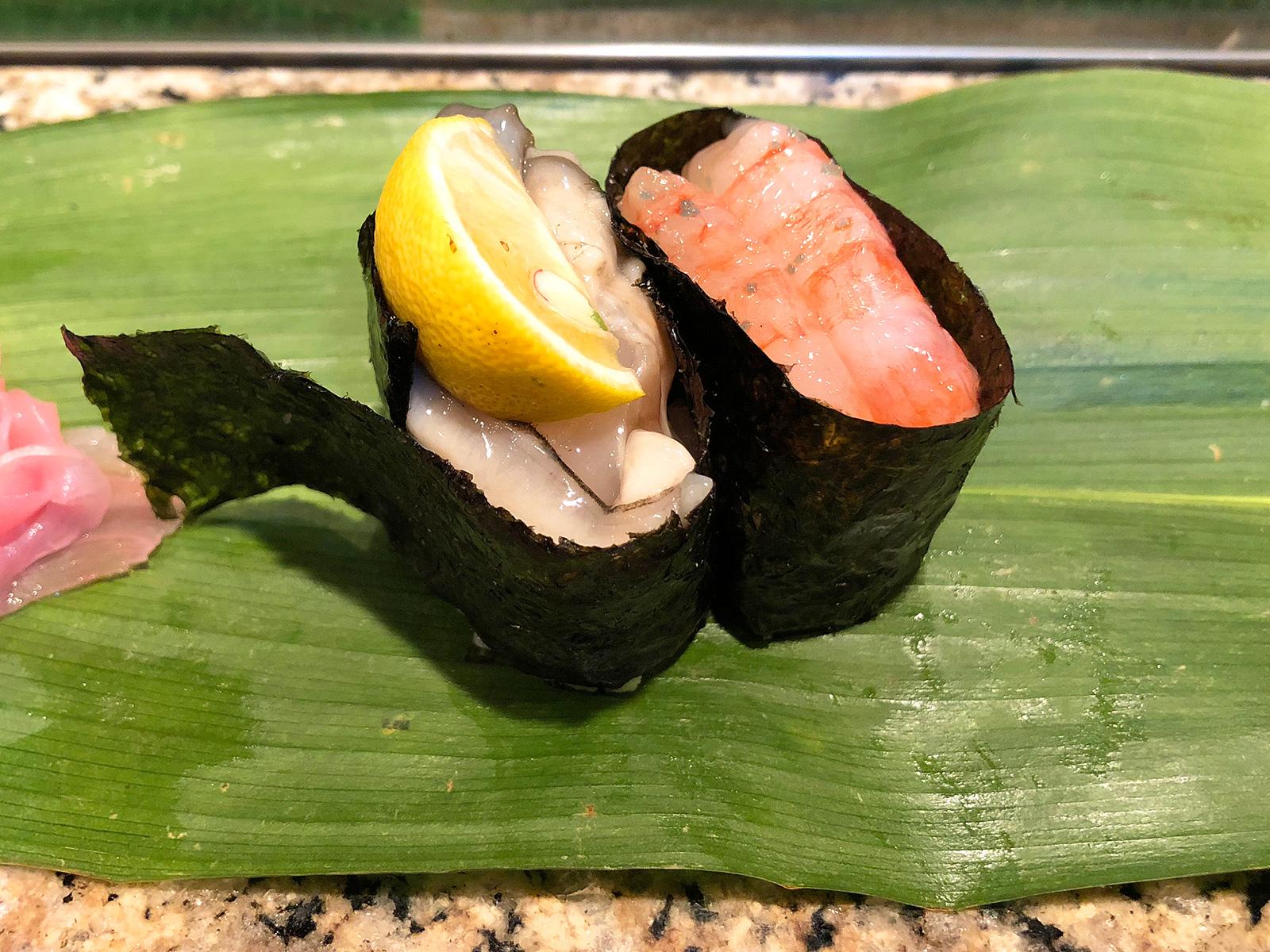 牡蠣と甘エビ