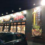 「あみやき亭レストラン 小田井店」の北海道産牛肉ハンバーグ&ポーク(栗豚)ステーキセット  @西区中小田井