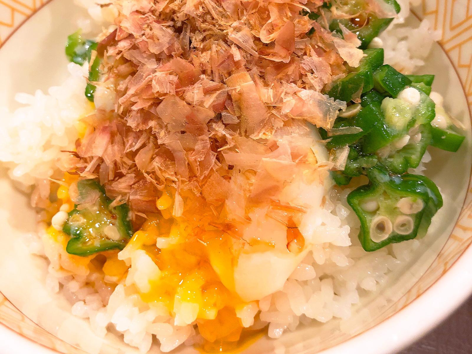 「すき家名古屋栄生店」のまぜのっけごはん朝食 @西区栄生