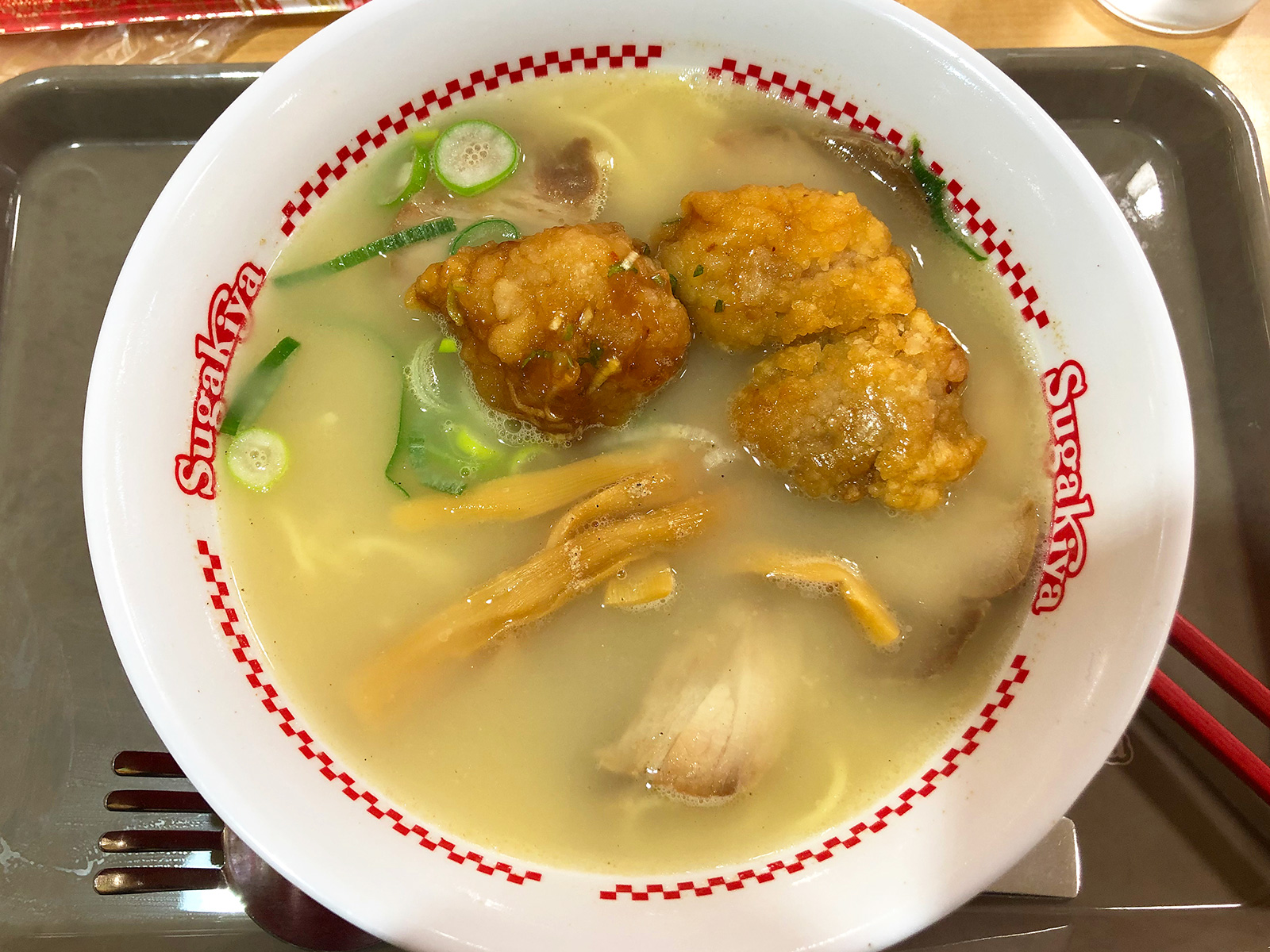 【スーちゃん祭】「スガキヤヨシヅヤ清洲店」の肉入りラーメンと油淋鶏とクリームぜんざい @清須市清洲