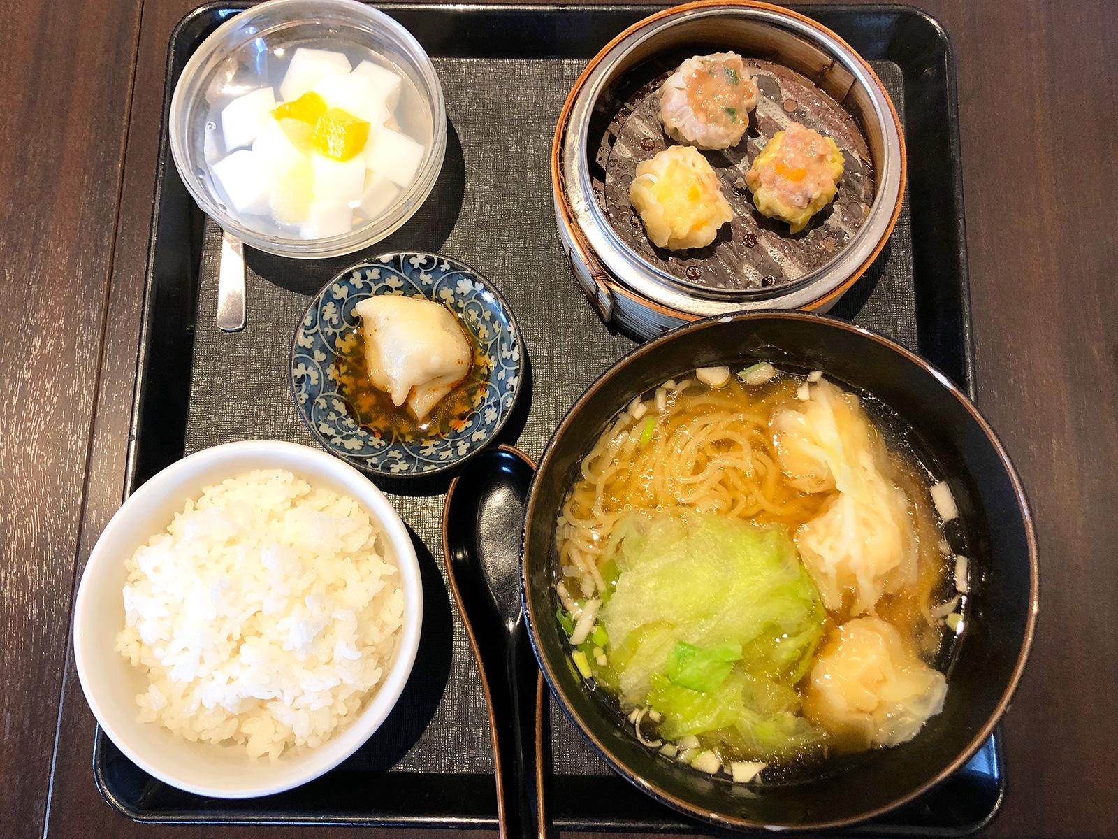 「香港飲茶広東料理 航天」の雲呑麺セットランチ @清須市清洲