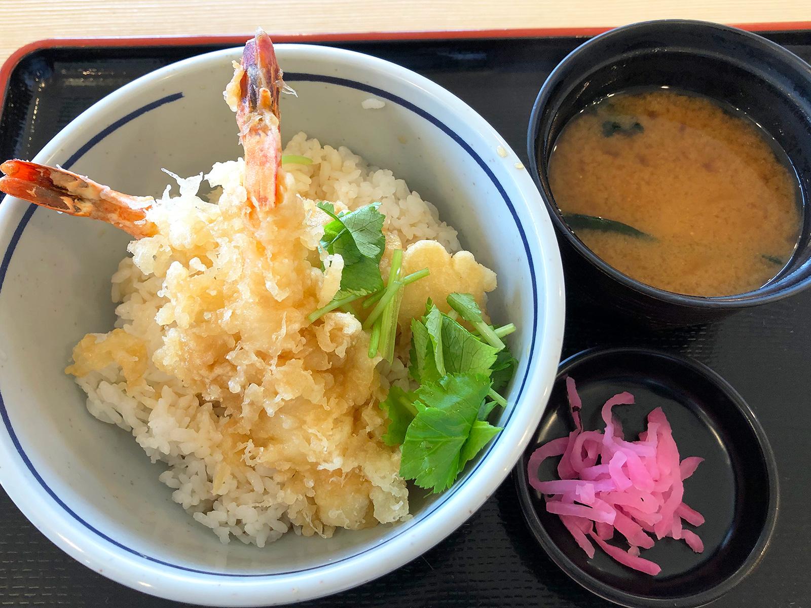「花の木」の海老天丼ランチ @昭和区名大付属病院