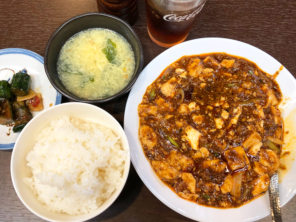 「本格四川料理 天府」の陳麻婆豆腐ランチ @名古屋市中区新栄
