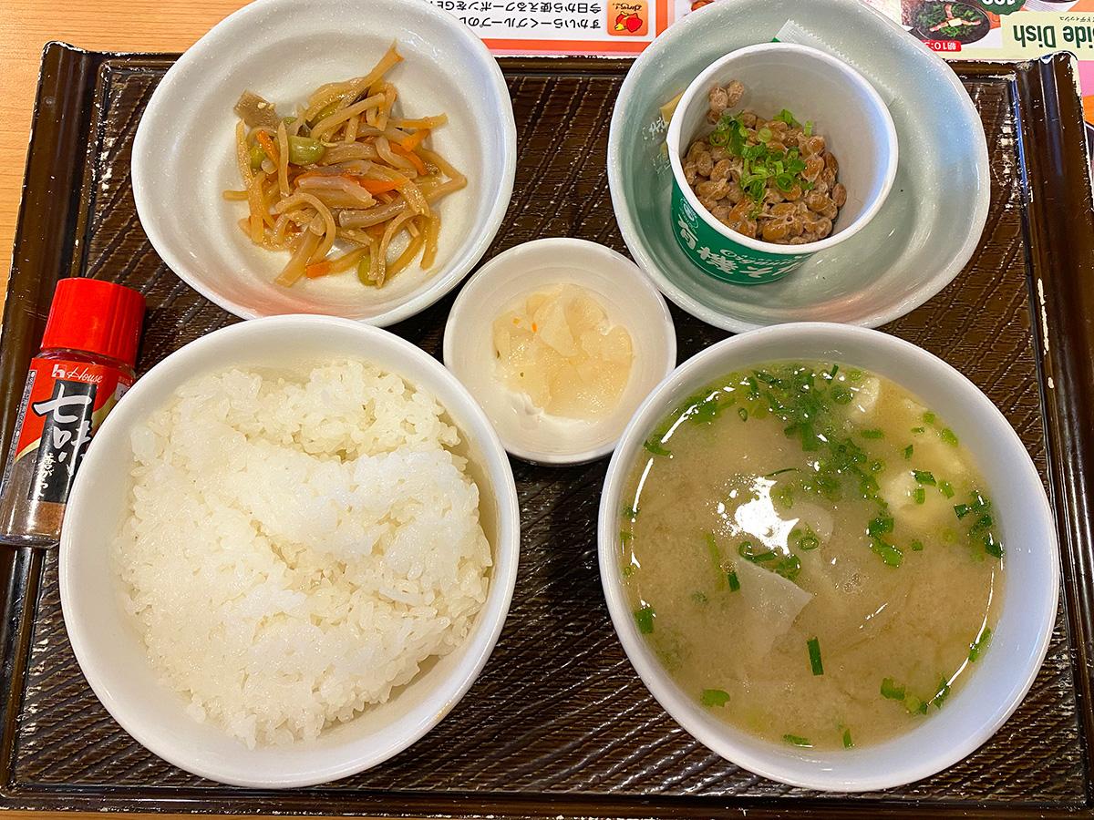 「ガスト 荒子店」の根菜具だくさん味噌汁定食 @名古屋市中川区荒子