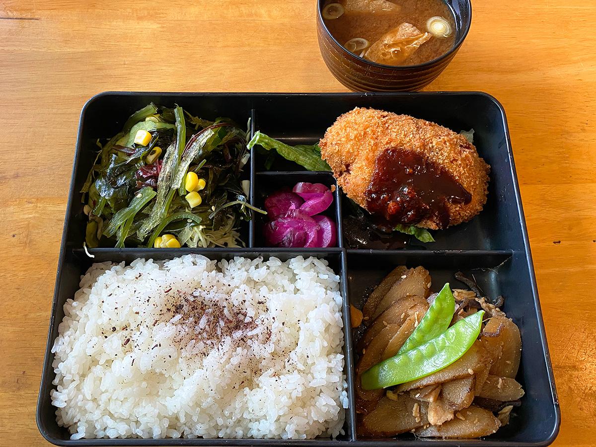 「キッチン欧味」の牛肉コロッケランチ @名古屋市千種区古井ノ坂