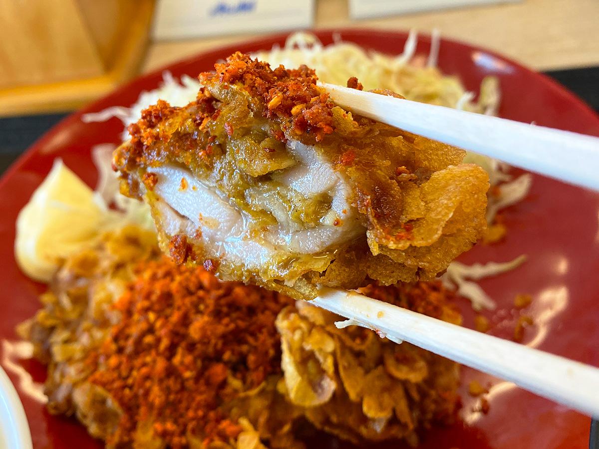 「かつや 名岐バイパス春日店」のコーンフレークカツ定食 @清須市春日