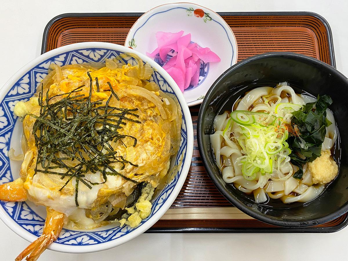 「むつみや」の天丼セット @清須市下小田井