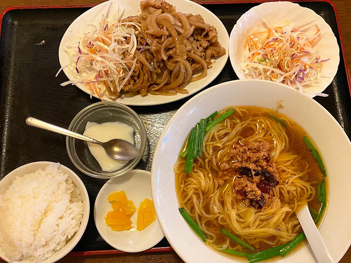 「天福」のごま焼き定食 @稲沢市