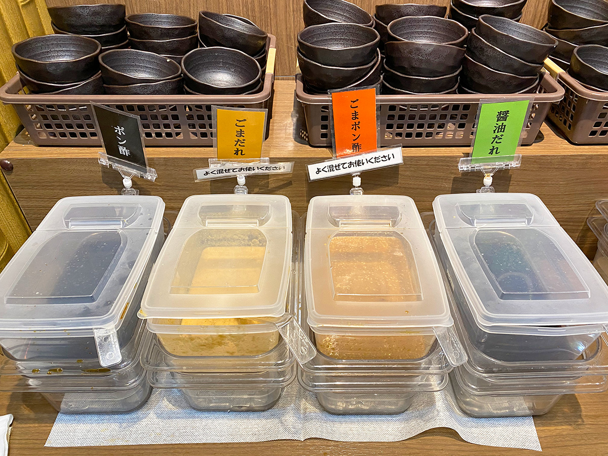 「しゃぶ亭 ふふふ 小田井店」の国産牛カルビ食べ放題コース @名古屋市西区中小田井
