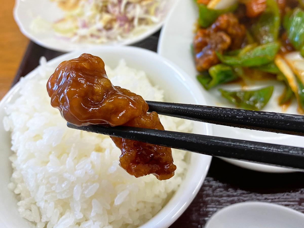 「餃子亭」の酢豚と麻婆豆腐のランチ @名古屋市西区大野木