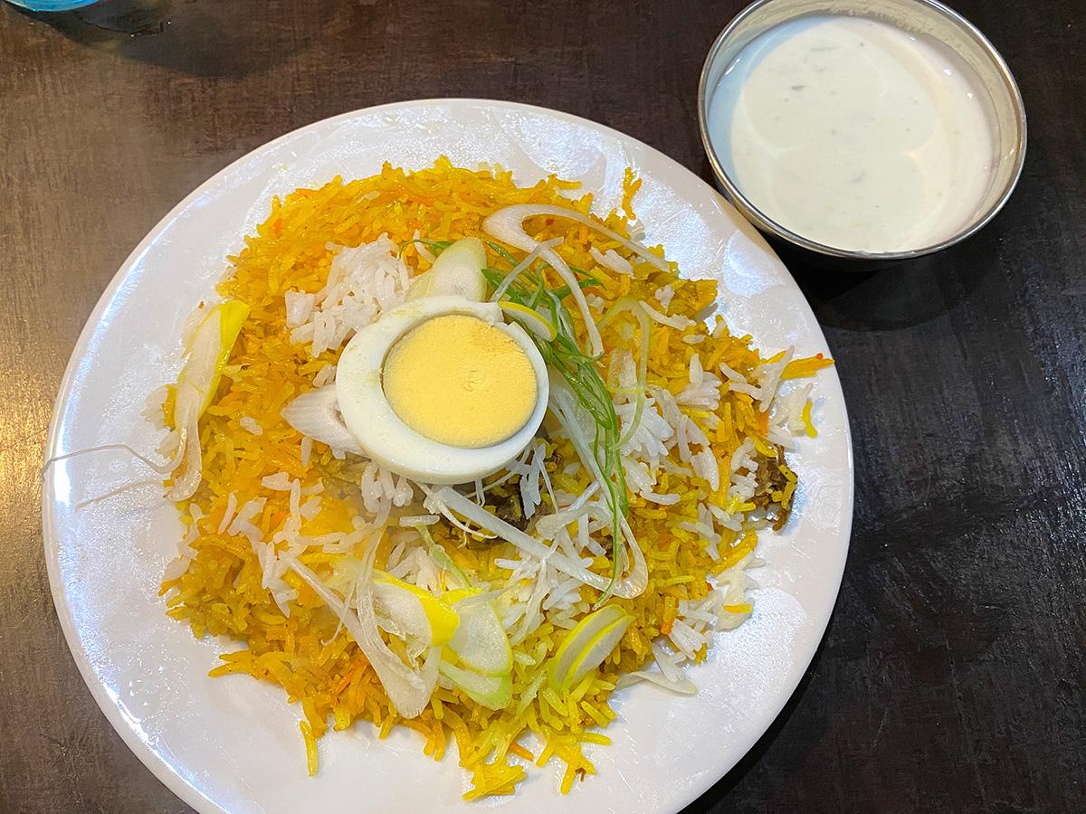 「ガンダーラ レストラン」のマトンビリヤニーセット @名古屋市中村区本陣