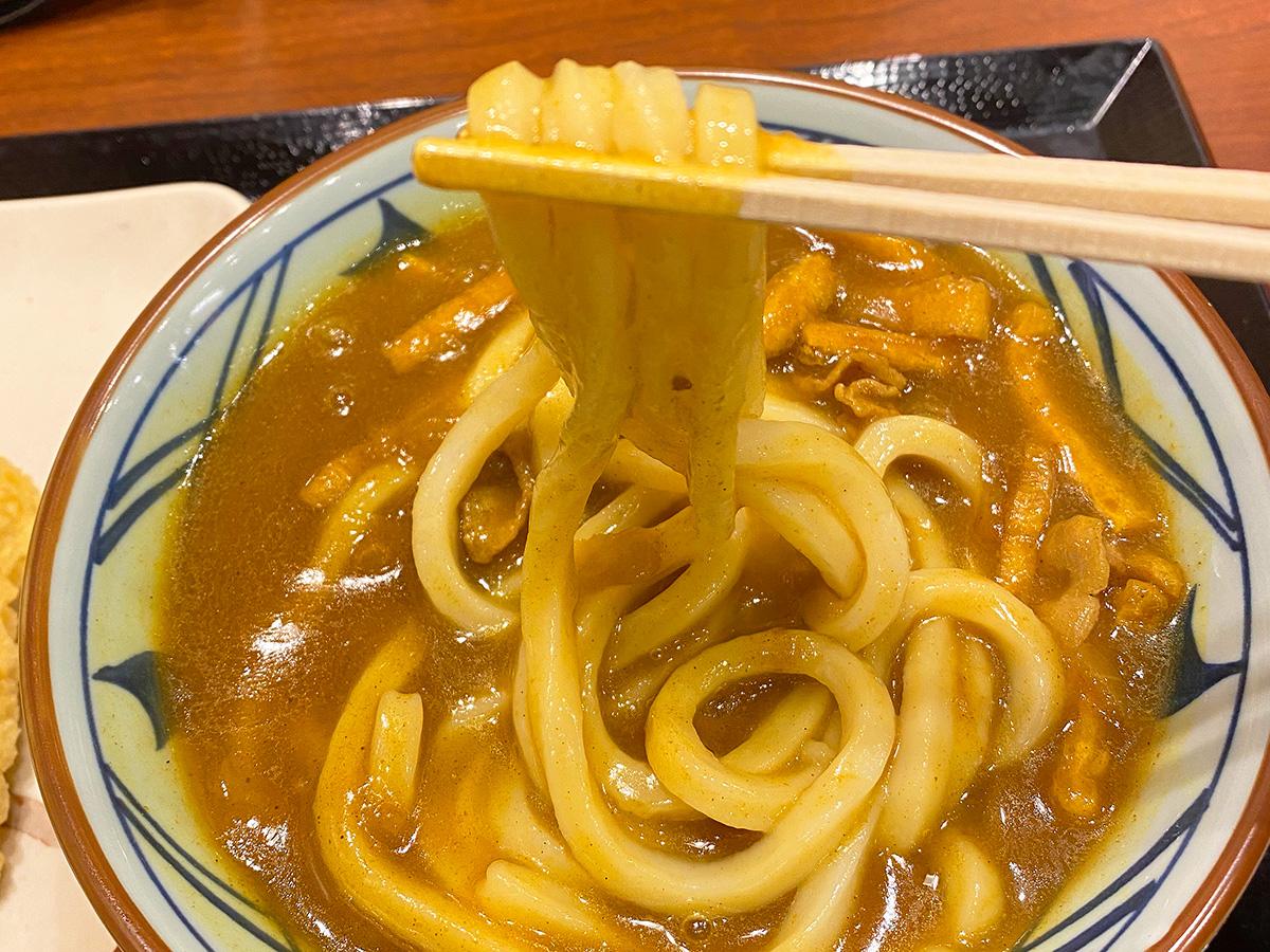 「 丸亀製麺 北名古屋店」のカレーうどん @北名古屋市西春