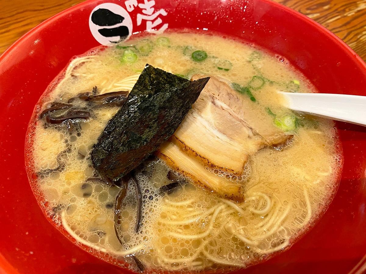 「とんこつラーメン ラの壱」のとんこつもと味 @名古屋市緑区左京山